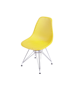 Cadeira Colmeia Base Cromada Jantar Or Design 1119