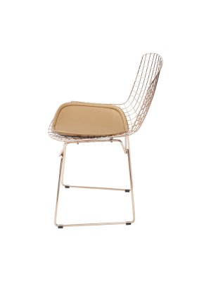 Cadeira Bertóia Jantar Sala Cobre Or Design 1125