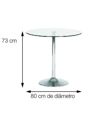 Mesa Apollo Tampo De Vidro Jantar Aço Cromado Or Design 2214