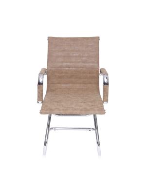 Cadeira Caramelo Base Fixa Baixa Corino Retrô Or 3301