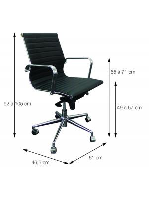 Cadeira Caramelo Esteirinha Baixa Corino Retrô Or 3301