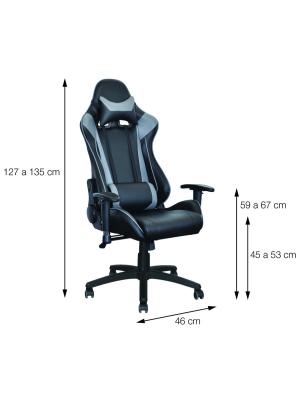 Cadeira Gamer Jogador Vermelha E Preta Or Design 3318