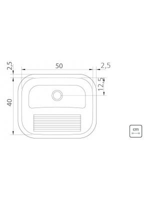 Tanque De Encaixe Tramontina Hera 30l Inox Polido 50x40 Cm