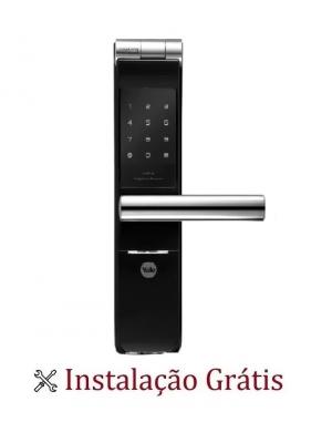 Fechadura Digital Biométrica Yale Ymf 40 Reversível Instalação Grátis
