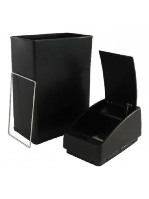 Lixeira Automática Sensor Inox Preta 3 Litros Quadrada