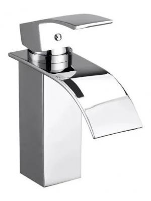 Torneira Cascata Banheiro Misturador Quadrada Cromada Baixa 6019A