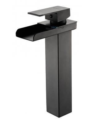Torneira Banheiro Black Preta Monocomando Calha Alta 6606cp