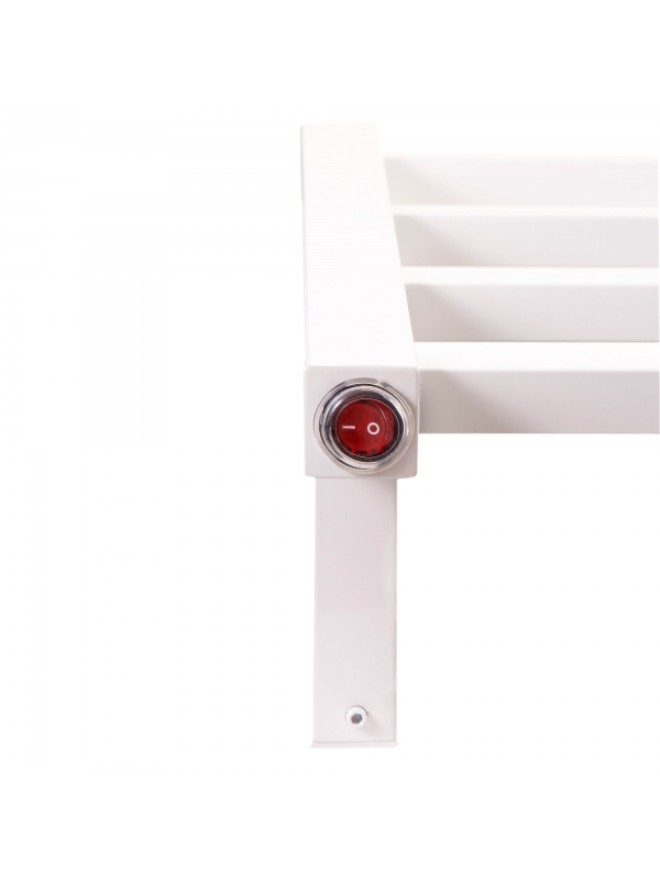 Toalheiro Térmico Pequeno Quadrado Inox Branco 304 Kazalinda