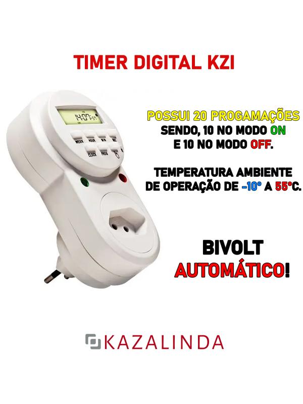 Timer / Temporizador Digital Com Contagem De Segundos  Kzi