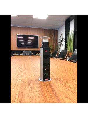 Torre Multiplug Retrátil USB  Embutir - Kzi