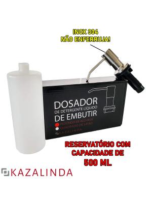 Porta Dosador De Detergente Sabonete Sabão Líquido Embutir Bancada Pia Redondo Inox 304