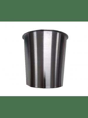 Lixeira Embutir 05 Litros Tampa Inox Escovado Balde Alumínio