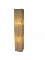 Luminária Coluna Chão Kazalinda Artesanal - (100 Cm X 19 Cm)