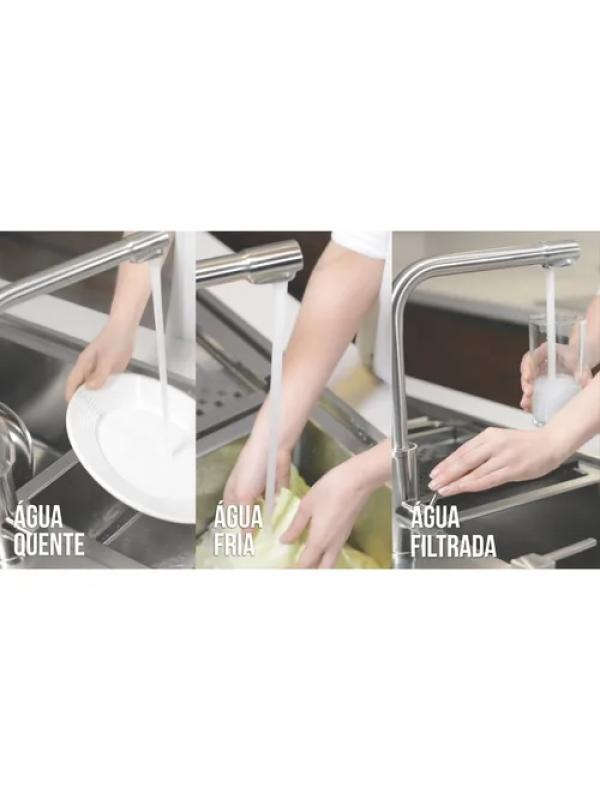 Torneira Tramontina Monde Filter Inox Com Saída Para Filtro