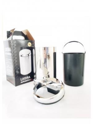 Lixeira Automática Com Sensor Inox Polido 6 Lts Litros Redonda