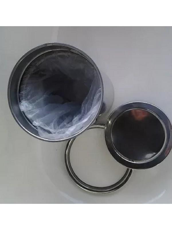 Lixeira Pia Cozinha Embutir Giratória Granito Inox 5 Litros