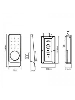 Fechadura Eletrônica Senha Cartão Bluetooth Fortezza Fd10