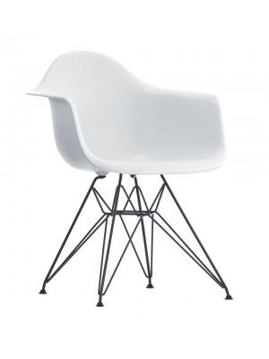 Cadeira Base Metal Com Braço Polipropileno Or Design 1121
