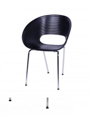 Cadeira Polipropileno Metal P/ Hotel Recepção Or Design 1123