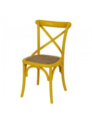 Cadeira Cross Vintage Madeira Rattan Or Design 1150