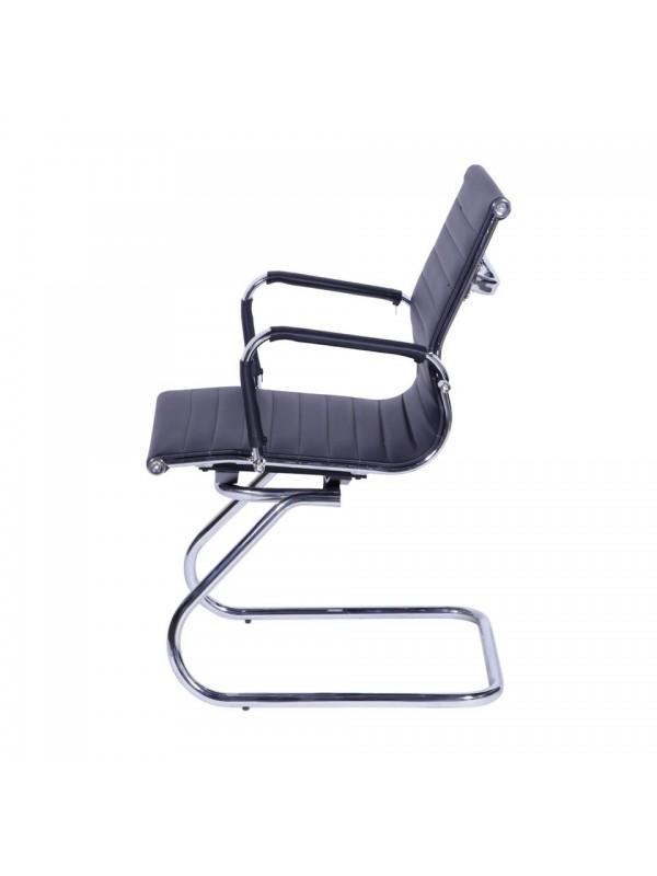 Cadeira Office Sevilha Com Braço Baixa Or Design 3301 Fixa