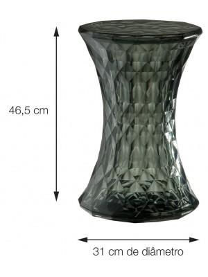 Banqueta Banco Stone Diamond Transparente Or Design 1142