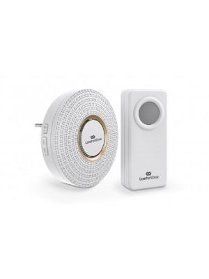 Campainha Wireless Sem Fio Branca Bivolt Comfort Door 100mts