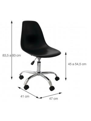 Cadeira Eiffel Office Escritório Or Design 1102 Com Rodízio