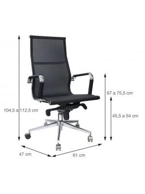 Cadeira Office Escritório Esteirinha Or Design 3303 Alta