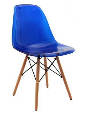 Cadeira Eiffel Policarbonato Base Madeira Or Design 1101 Bpc