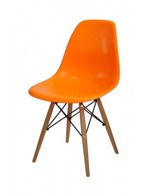 Cadeira Madeira Sem Braço Polipropileno Or Design 1102 B
