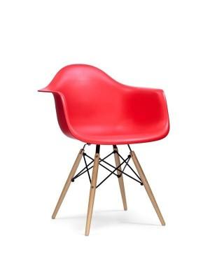 Cadeira Madeira Com Braço Polipropileno Or Design 1120