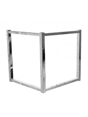 Cavalete Quadrado 50cm Base De Mesa Aço Cromado Flape