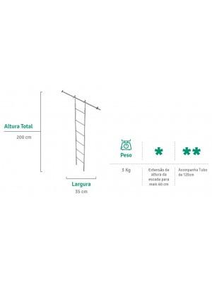 Escada Para Armário Em Aço Cromado Com Regulagem - Flape