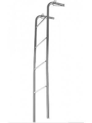 Escada Para Beliche Em Aço Cromado 1,36m - Flape