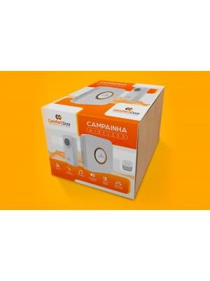 Campainha Wireless Sem Fio Branca Pilhas Comfort Door 100mts