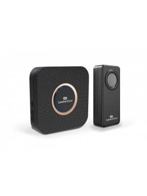 Campainha Wireless Sem Fio Preta Pilhas Comfort Door 100mts