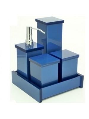Kit Potes em Acrílico SEM Srass Azul