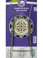 Suporte De Prato Para Parede 23 A 30 Cm Inox - Duler 11037