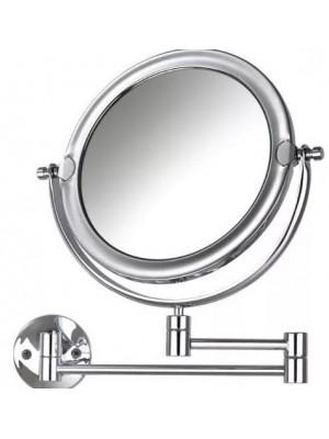 Espelho Dupla Face Articulado Crysbel Aumento 5x Cromado