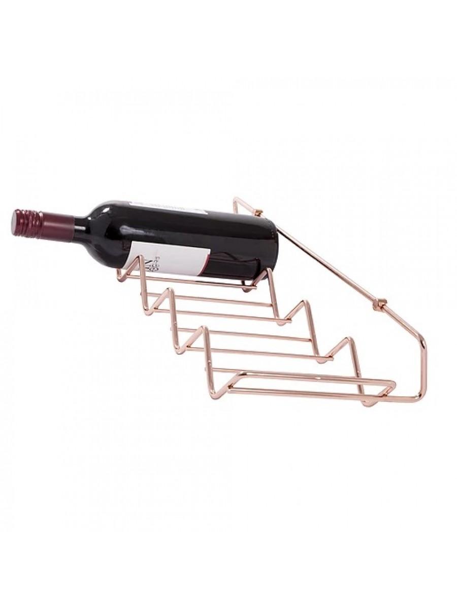 Adega Parede Fixação Cobre P 5 Garrafas Vinho Jomer 2720
