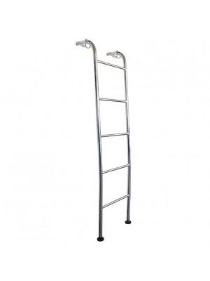 Escada Curva Cromada Para Beliche 350x1450x350mm Jomer 8270