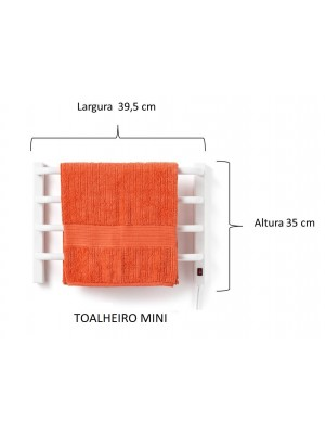 Aquecedor De Toalhas Térmico Branco Mini Pequeno - 1 Toalha
