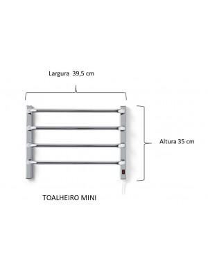 Aquecedor De Toalhas Térmico Cromado Mini Pequeno - 1 Toalha