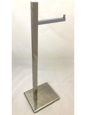 Papeleira de Chão Quadrada Simples Inox - 4025