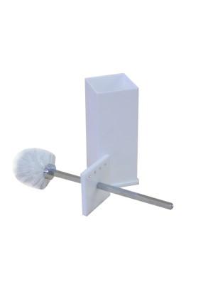 Escopino - Escova Sanitária em Acrílico Com Strass Branco