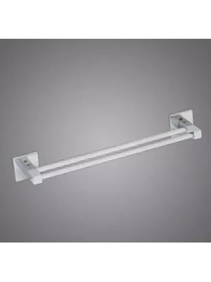 Porta Toalhas Banho Duplo 45cm Metal Cromado Linha Retro