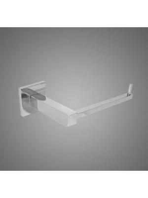 Papeleira De Parede Banheiro Quadrada Metal Cromado Retro