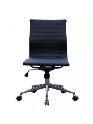Cadeira Office Sevilha Couro Or Design 3301 Baixa Sem Braço