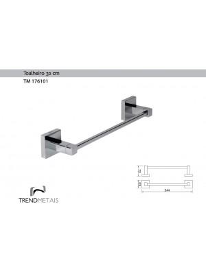 Toalheiro Quadrado Latão 30cm Trendmetais Tm 176101